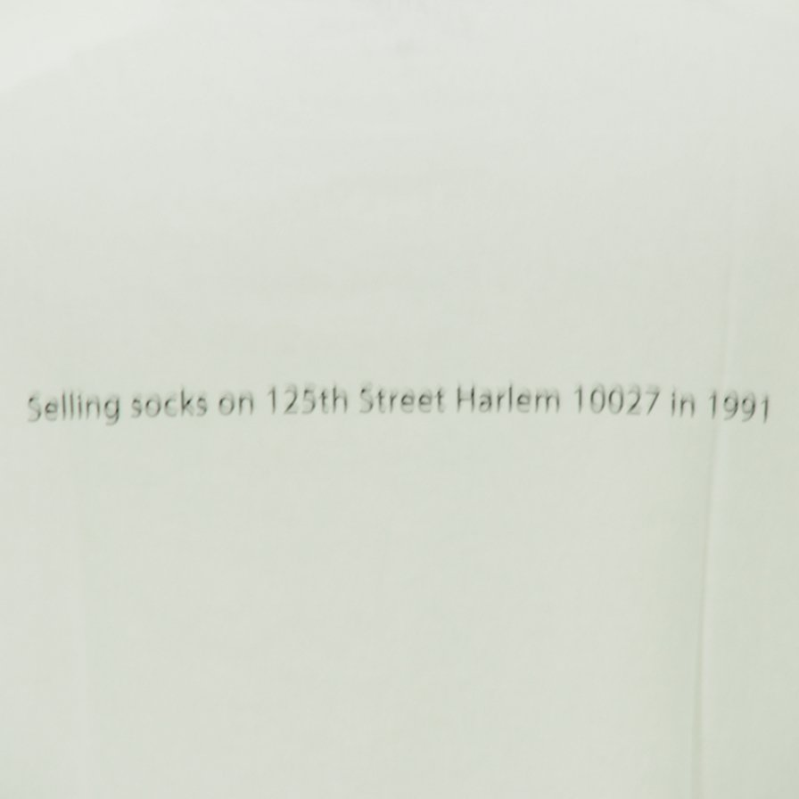 FilPhies - Selling socks on 125th Street Harlem 10027 in 1991 - White