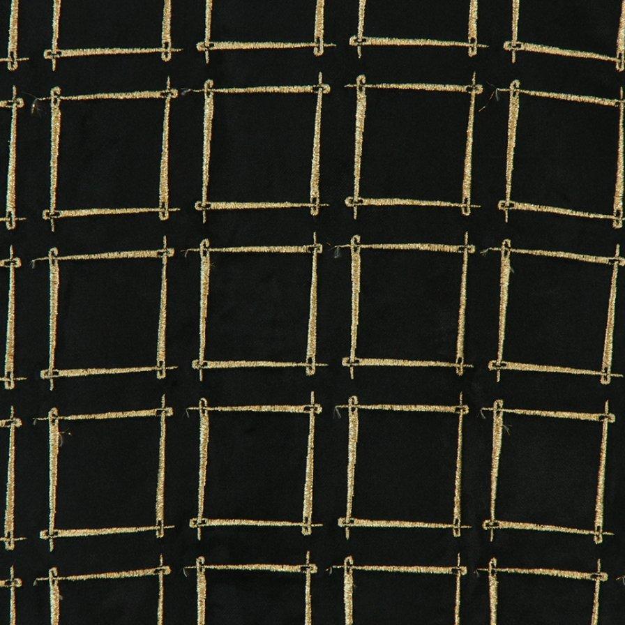 Needles - Cut Off Bottom One UP Shirt - Needles Emb.C/R Velvet- Black