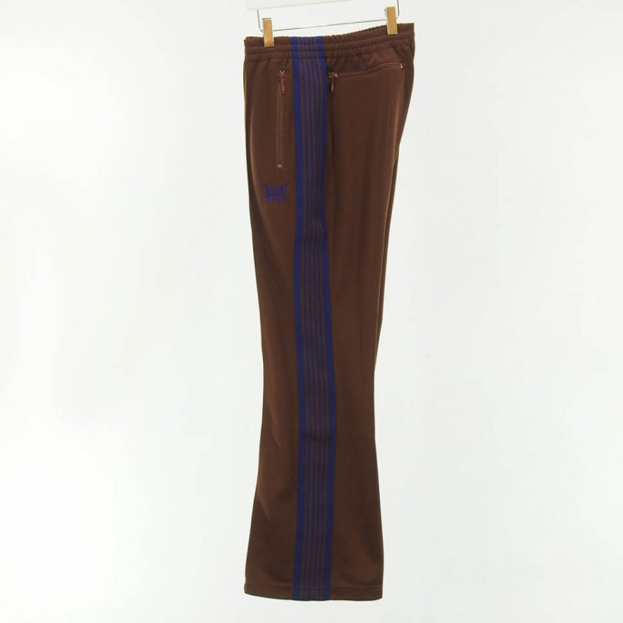 Needles - Boot Cut Track Pant - Poly Smooth - Brown