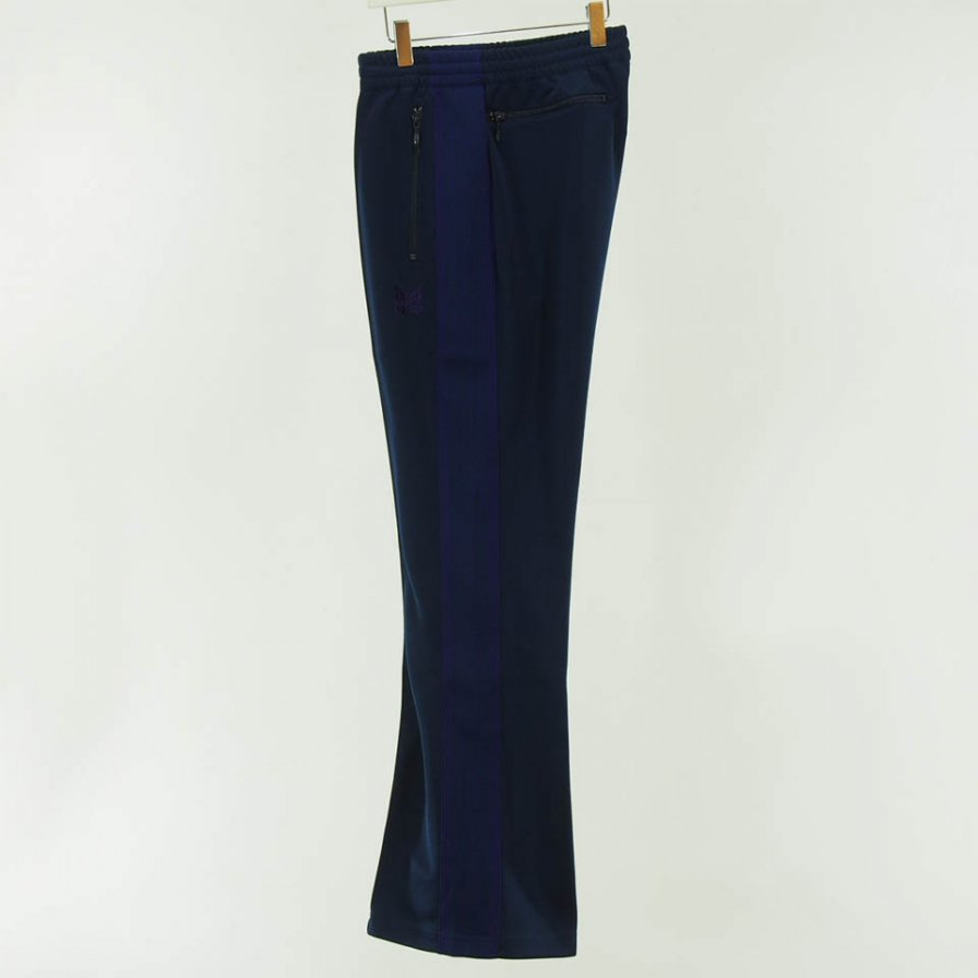 Needles - Boot Cut Track Pant - Poly Smooth - Navy