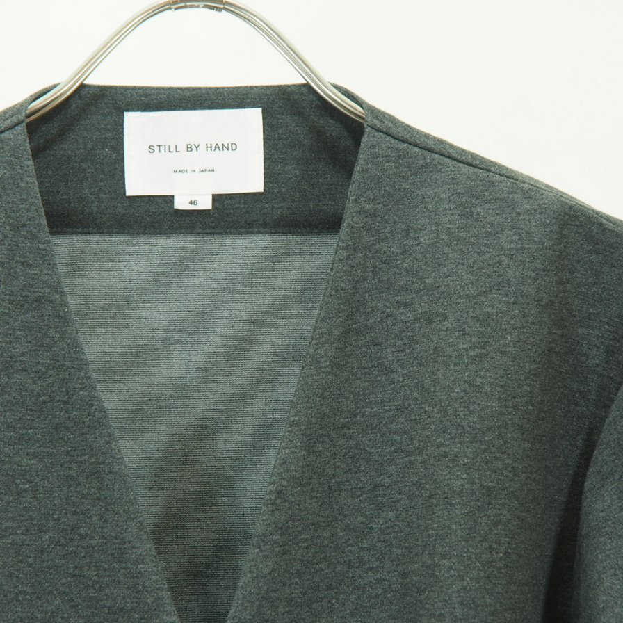 STILL BY HAND - Snap Cardigan - Charcoal