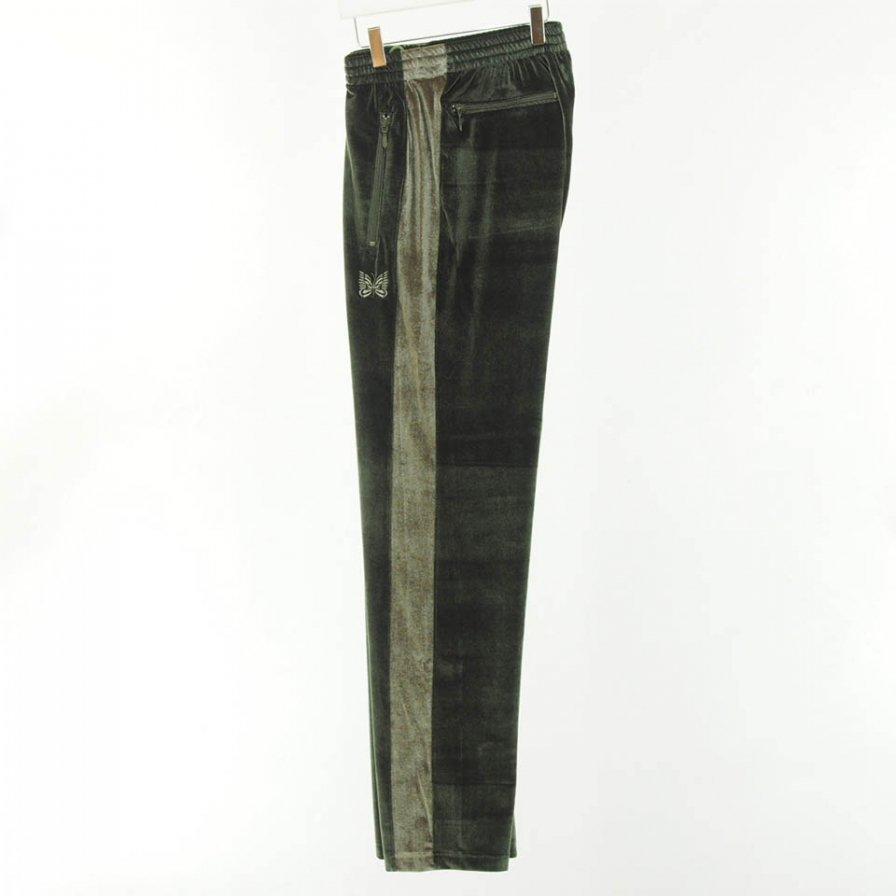 Needles - Papillon Emb. Side Line Track Pant - Pe/Pu Velour - Green