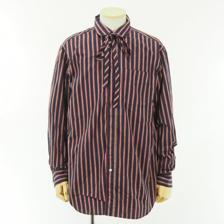 Engineered Garments - Rounded Collar Shirt - Regimental St. - Nvy/Red/Brn
