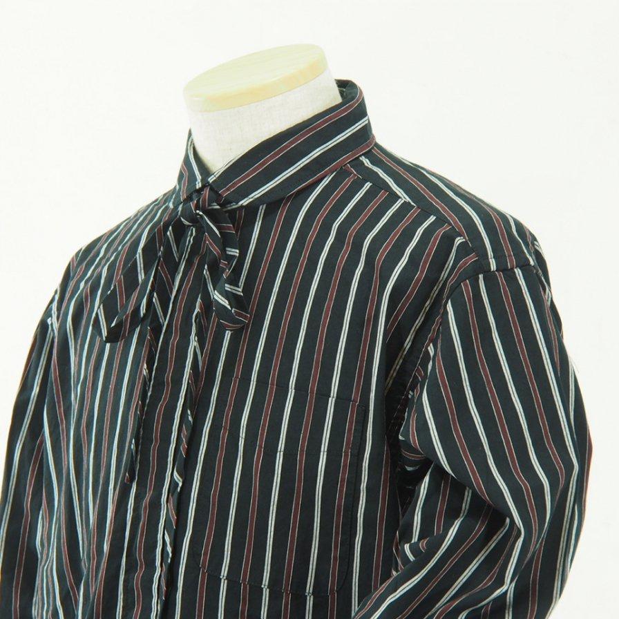 Engineered Garments - Rounded Collar Shirt - Regimental St. - Blk/Mrn/wht