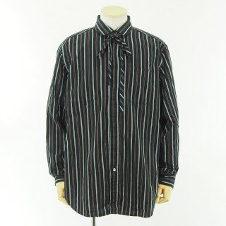 Engineered Garments - Rounded Collar Shirt - Regimental St. - Blk/Mrn/wht