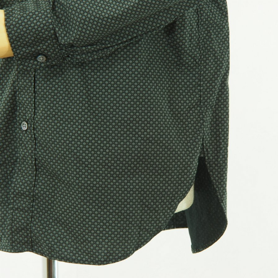 Engineered Garments - Rounded Collar Shirt - Mini Foulard - Black