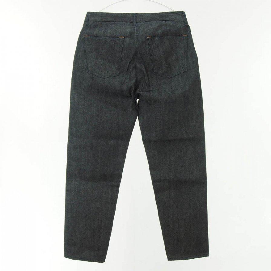 STILL BY HAND - Tuck Denim Pants - Navy