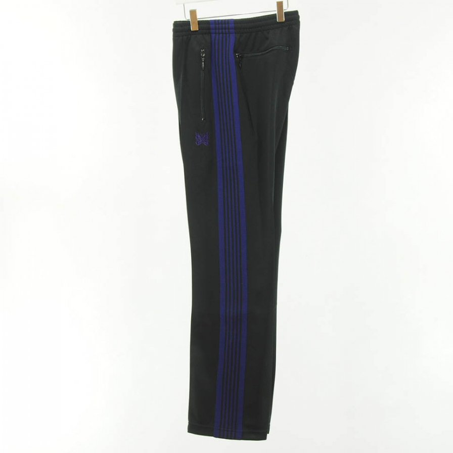 Needles - Narrow Track Pant - Poly Smooth - Black
