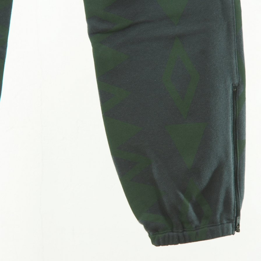 South2 West8 - Zipped Sweat Pant - Cotton Jersey - / S2W8 Native Pattarn - Charcoal