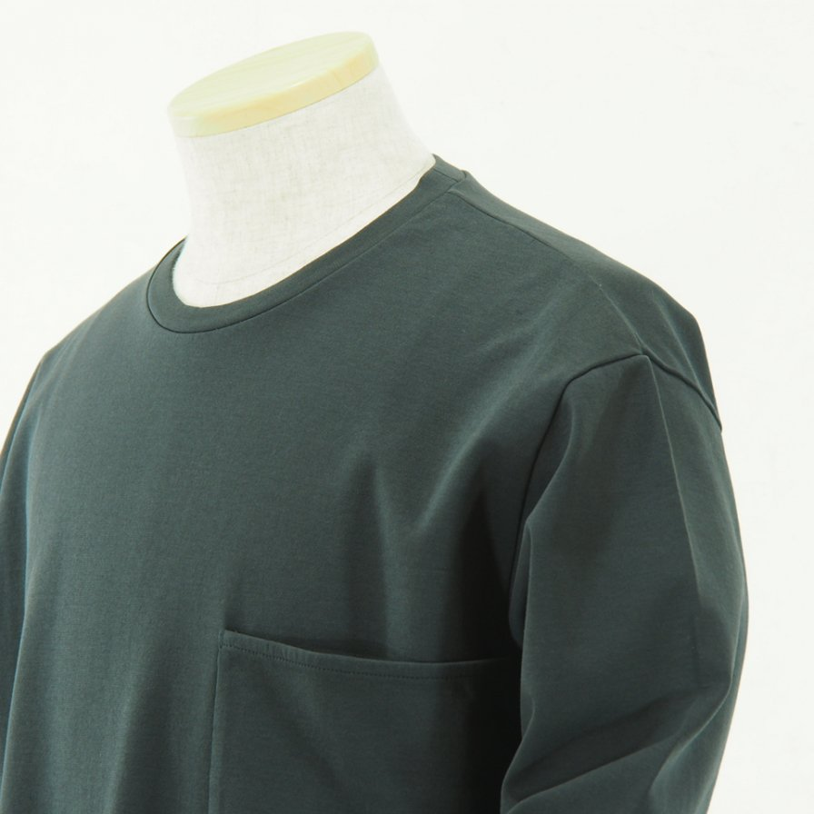 STILL BY HAND - Pocket L/S Tee - Charcoal