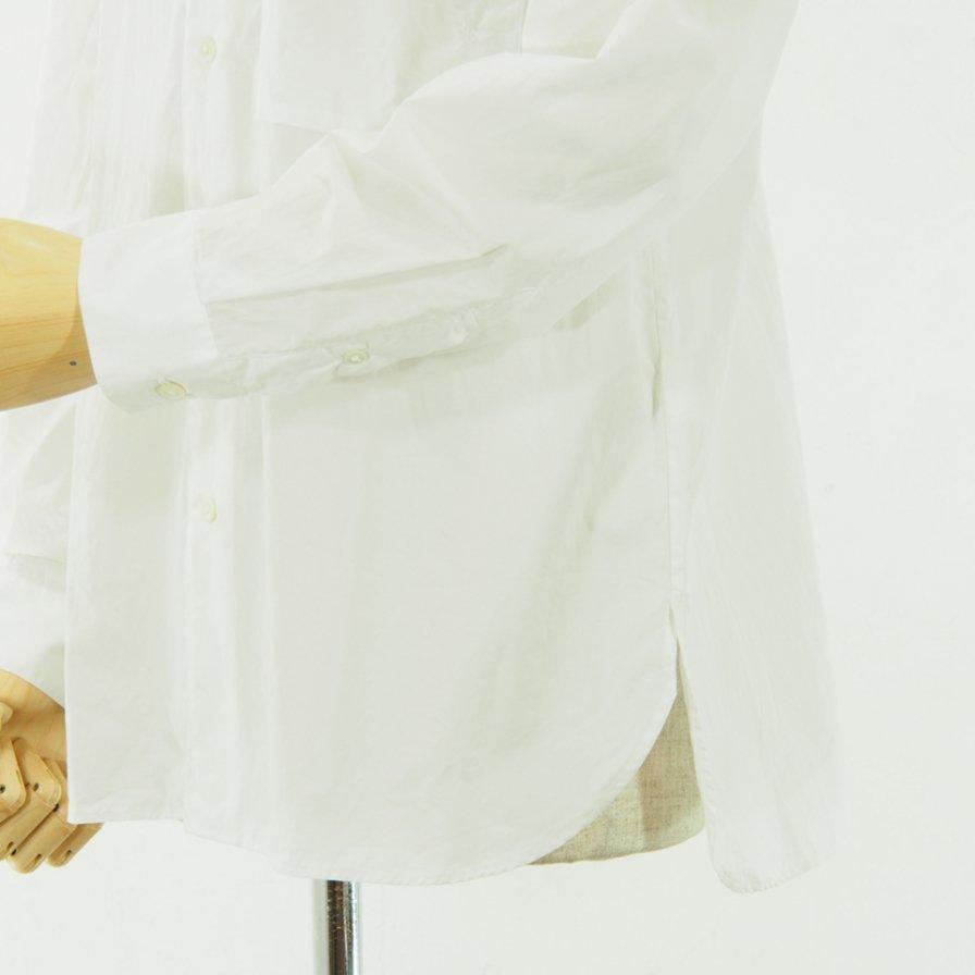 STILL BY HAND - Pocket L/S Shirt - White
