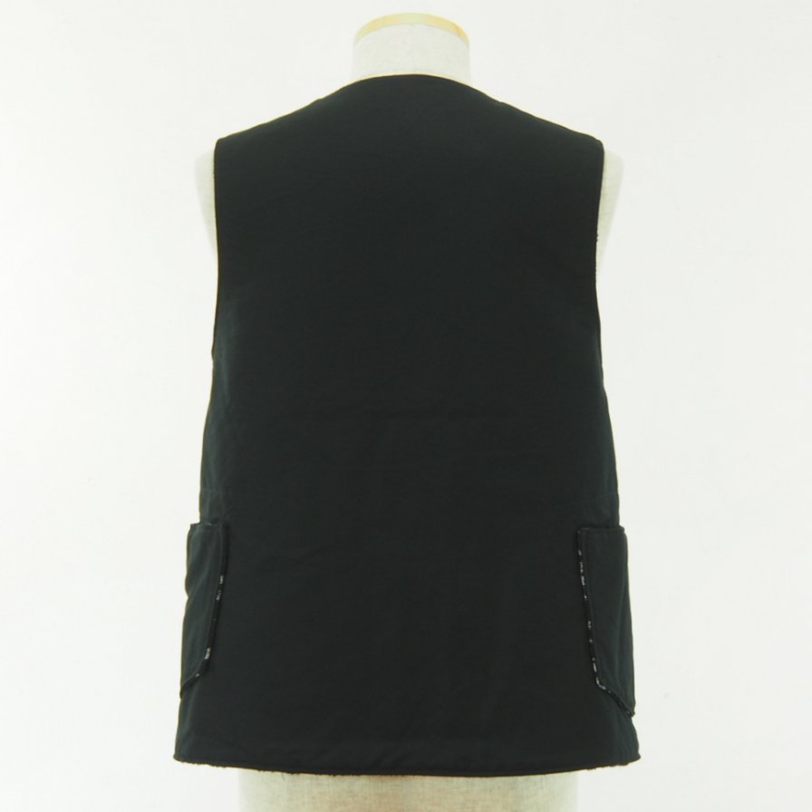 Engineered Garments - Over Vest - Rug Jacquard - Double Cloth - Black