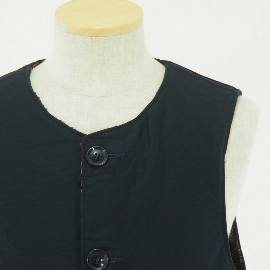 Engineered Garments - Over Vest - Rug Jacquard - Double Cloth - Navy