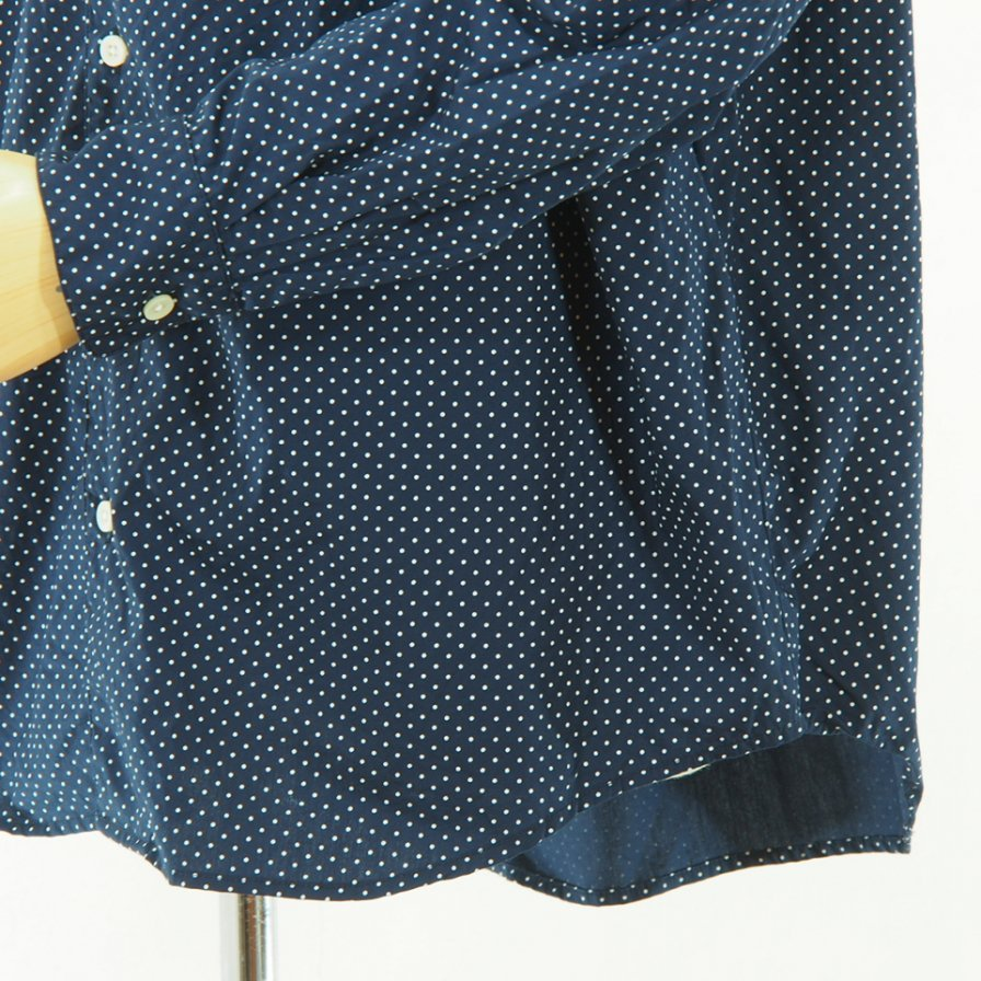 AiE - Painter Shirt - Small Polka Dot - White/Navy