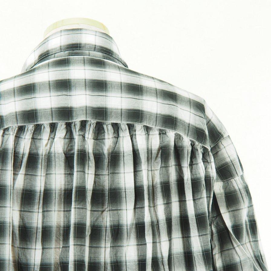 AiE - Painter Shirt - Poplin Shadow Plaid - Black/White