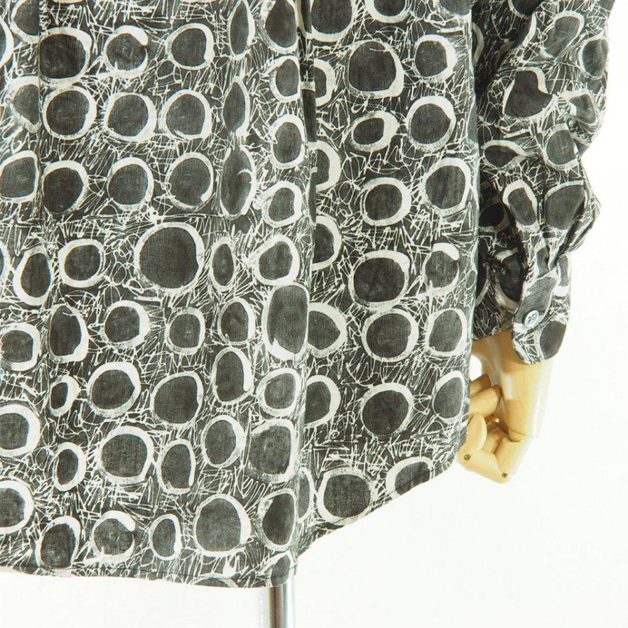 AiE - Painter Shirt - Abstract Print - Blk/Nat Circle