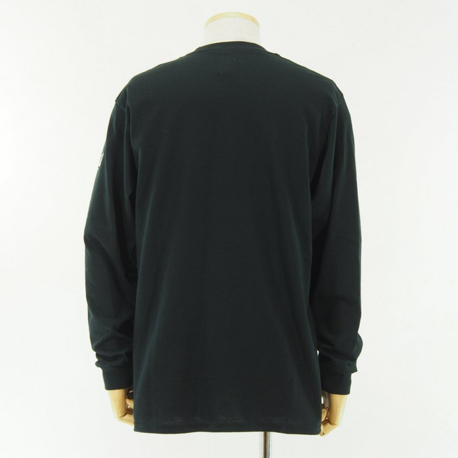 AiE - Printed L/S Pocket Tee - Small AiE Logo - Black