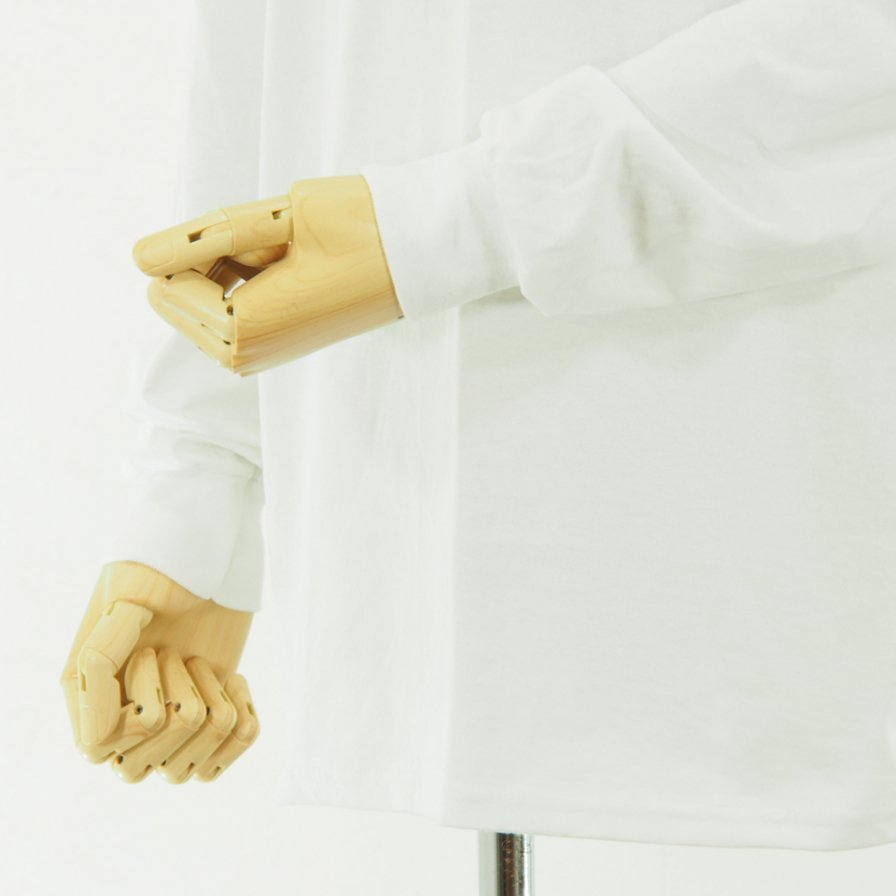 AiE - Printed L/S Pocket Tee - Big AiE Logo - White