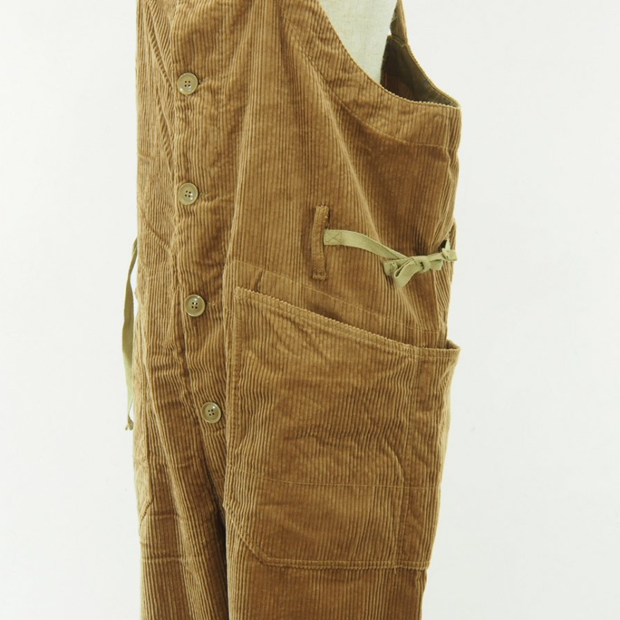 Engineered Garments - Overalls - 6W Cordury - Khaki