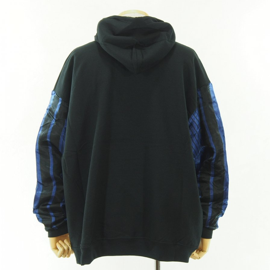 NOMA t.d. - N Stripe Sleeve Parka - Black / Black×Navy