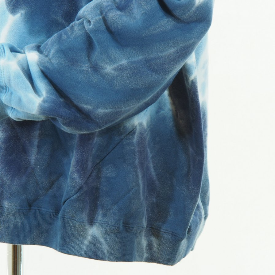 NOMA t.d. - Tie Dye Twisted Sweat - Circle / Navy×Blue