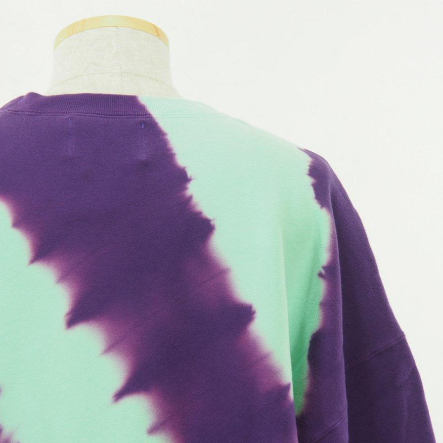 NOMA t.d. - Tie Dye Twisted Sweat - Regimental / Turquoise×Purple