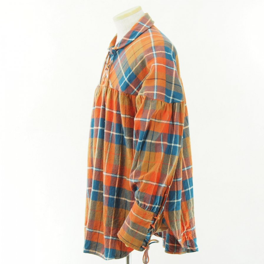 AiE - String Smock - Plaid Flannel - Orange/Blue