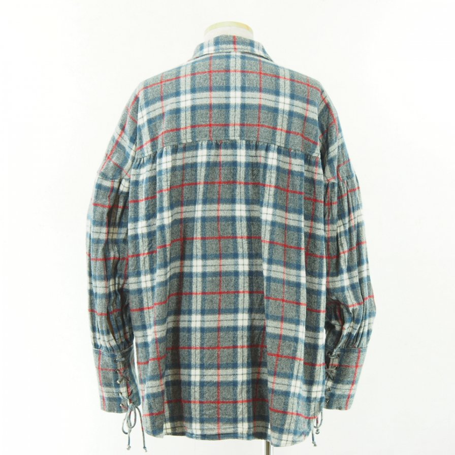 AiE - String Smock - Plaid Flannel - Blue/Grey/White