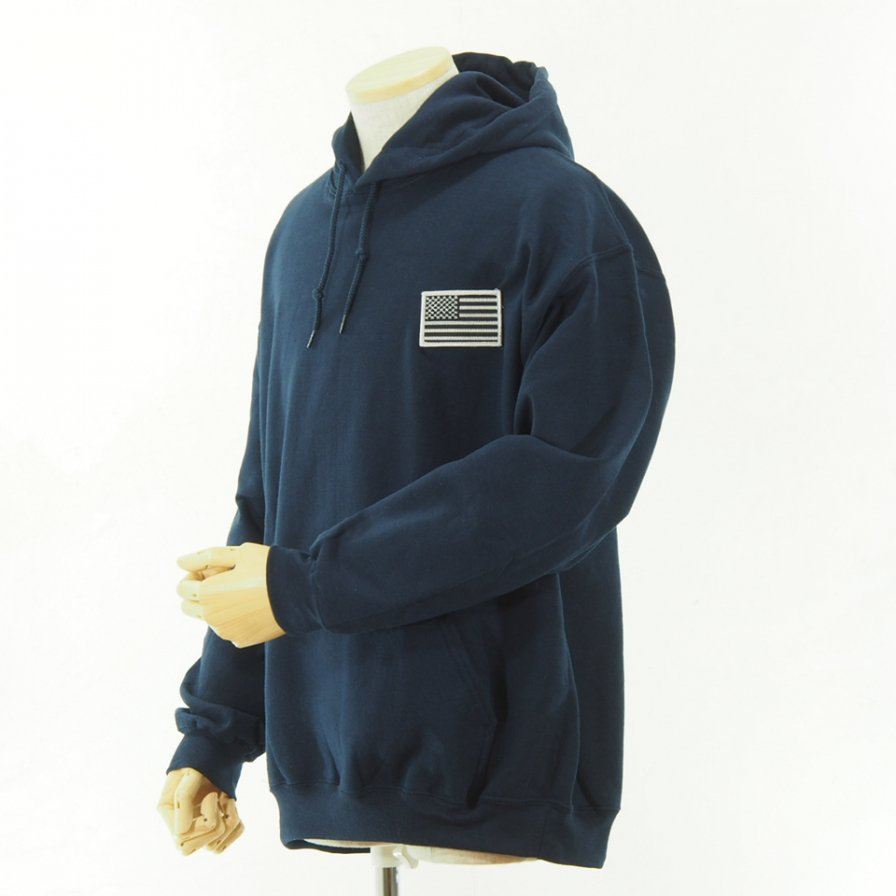 RANDT - Back Logo Printed Hoody - Big Body - Navy