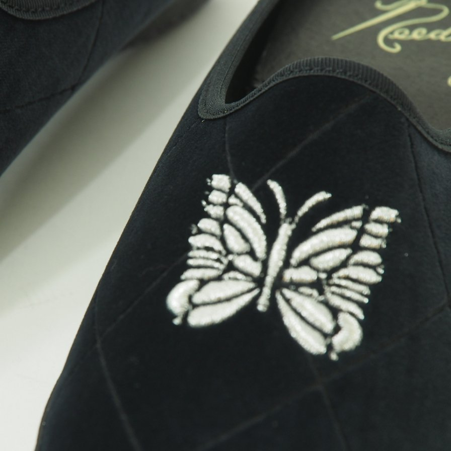 Needles - Papillon Emb. Mule - Pe/C Velvet / Opal Finished - Navy
