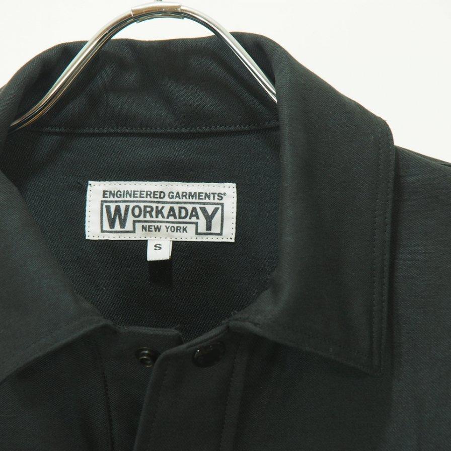 EG WORKADAY - Army Shirt - Reversed Sateen - Black