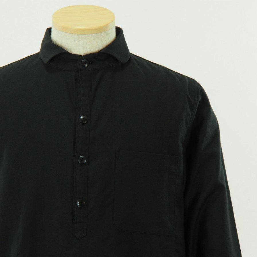 gorouta - Short Round Coller Pullover Shirt - Black