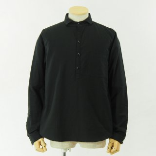 gorouta - Short Round Coller Pullover Shirt - Black