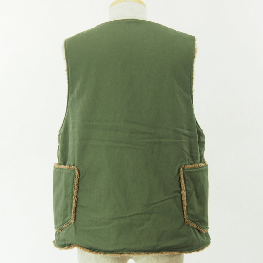 Engineered Garments - Over Vest - Cotton HB Twill - Olive