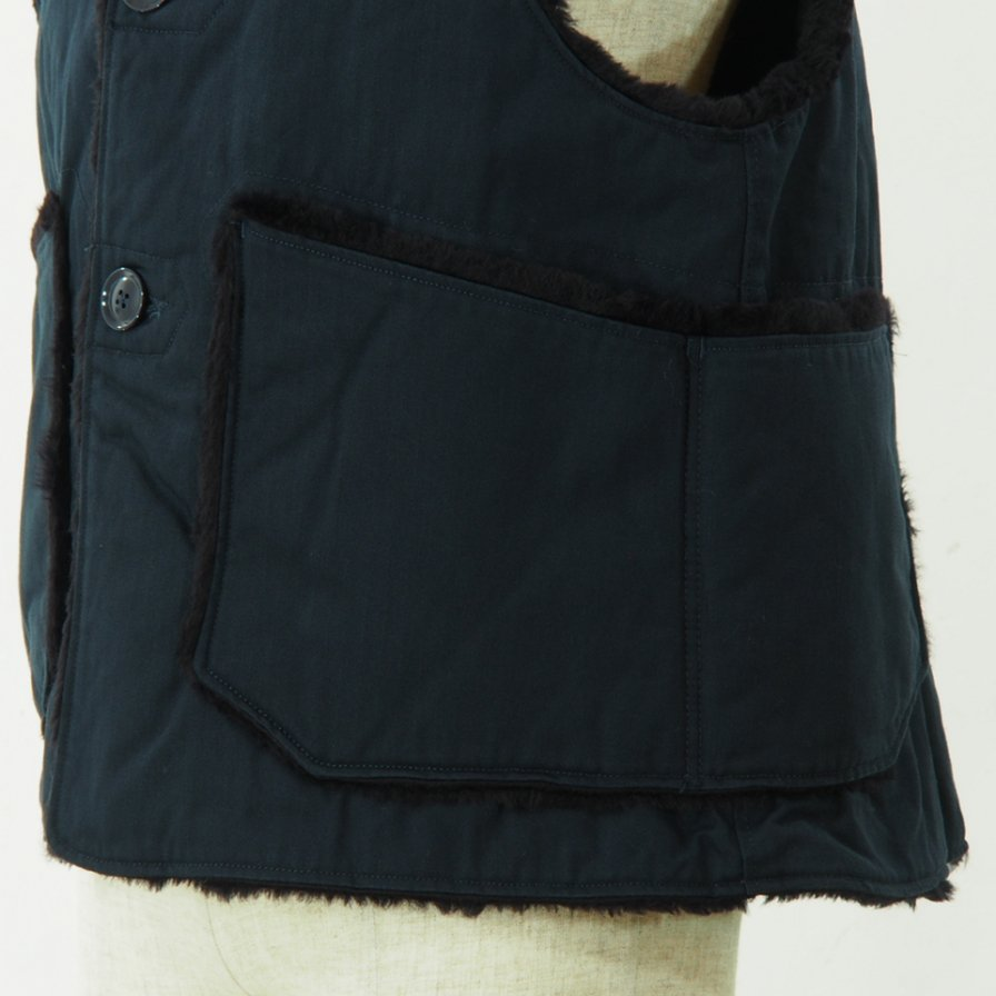 Engineered Garments - Over Vest - Cotton HB Twill - Navy