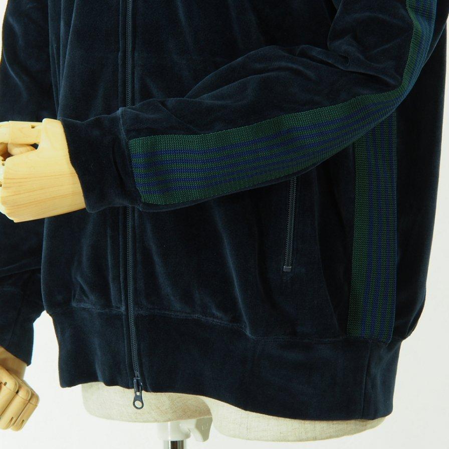 Needles - Rib Collar Track Jacket - C/Pe Velour - Navy