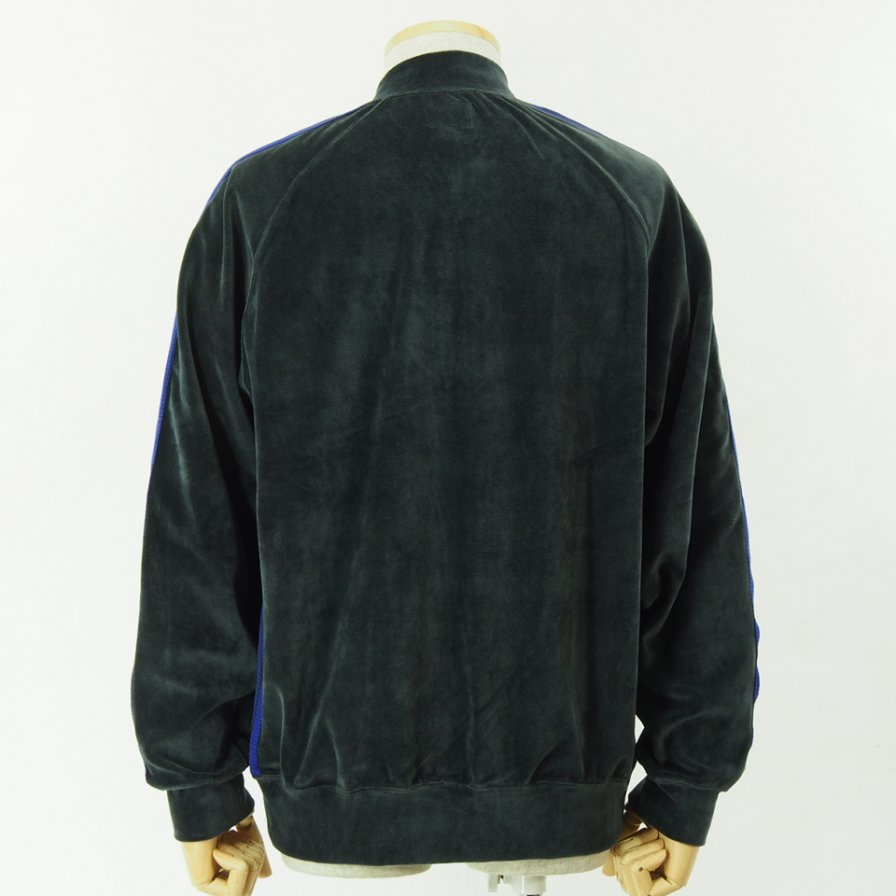 Needles - Rib Collar Track Jacket - C/Pe Velour - Charcoal