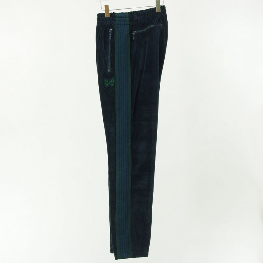 Needles - Narrow Track Pant - C/Pe Velour - Navy