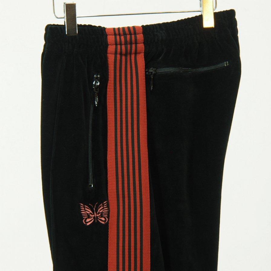 Needles - Narrow Track Pant - C/Pe Velour - Black