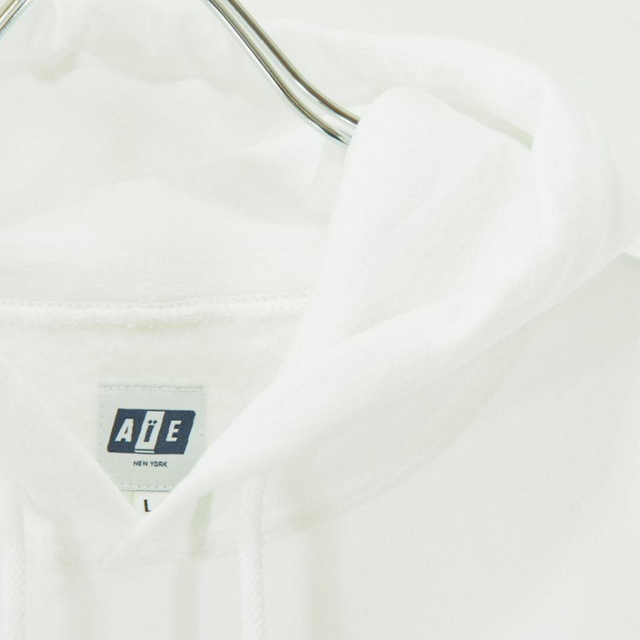 AiE - Printed Hoody - Small AiE Logo - White