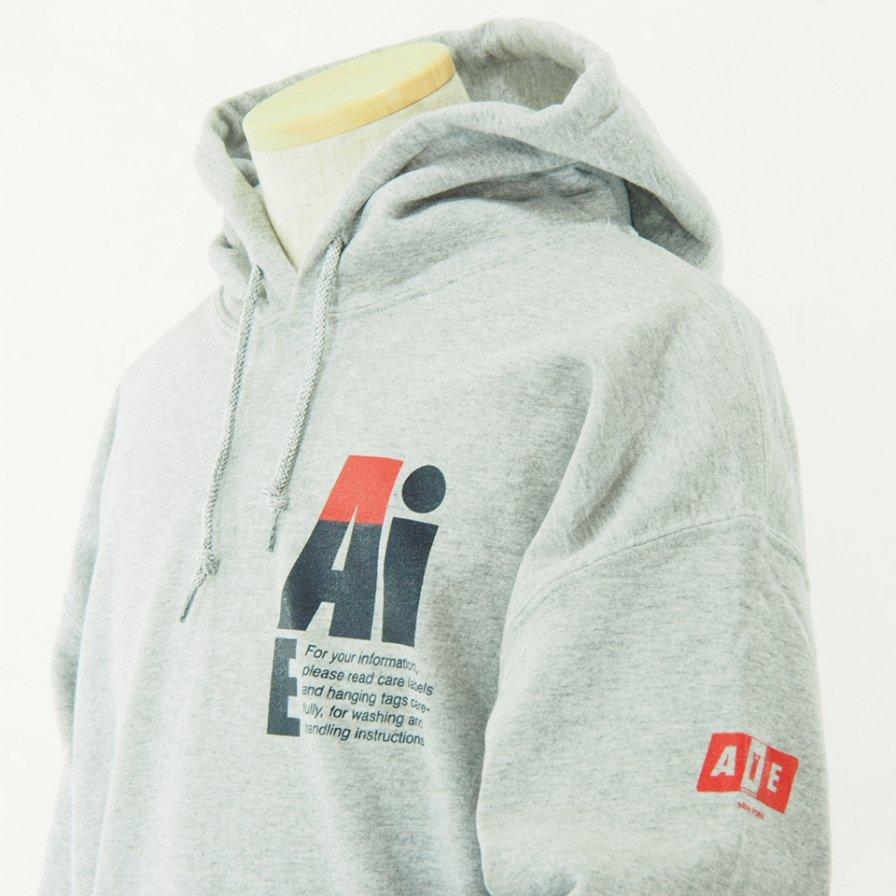 AiE - Printed Hoody - Small AiE Logo - Grey