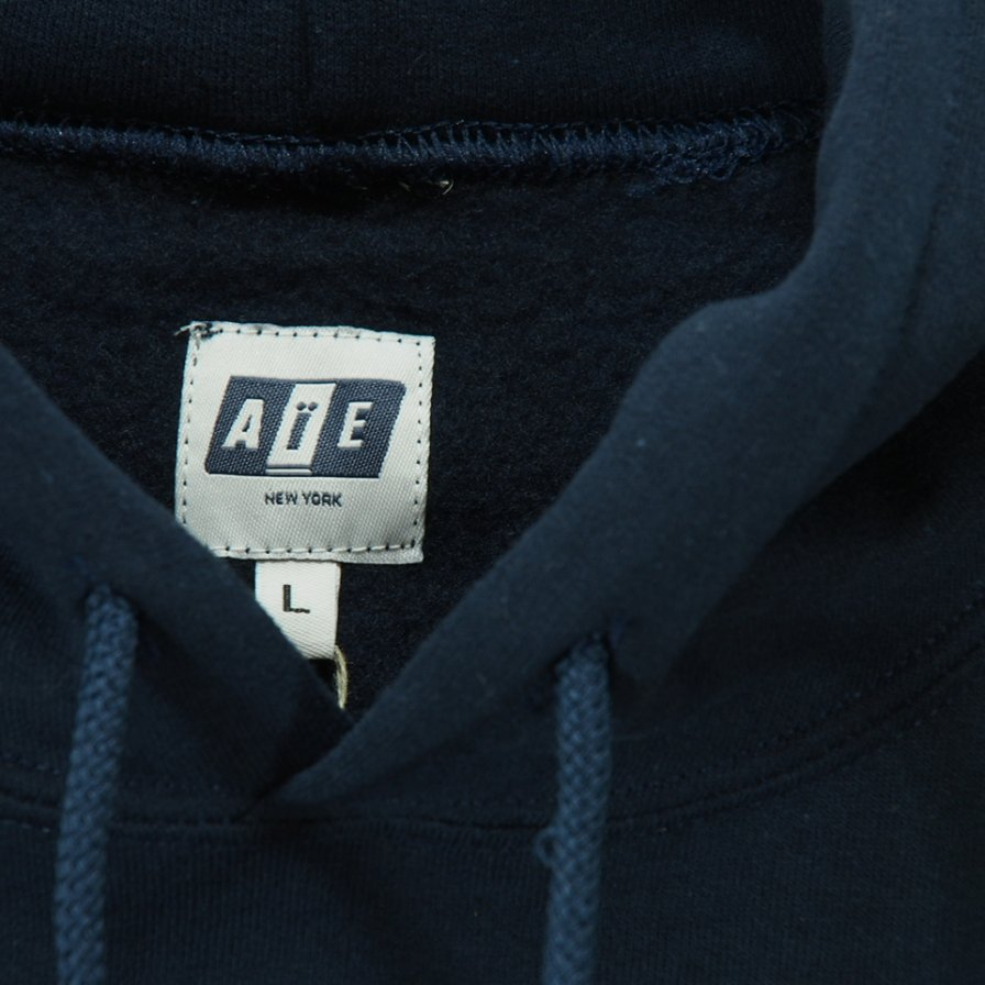 AiE - Printed Hoody - Small AiE Logo - Navy