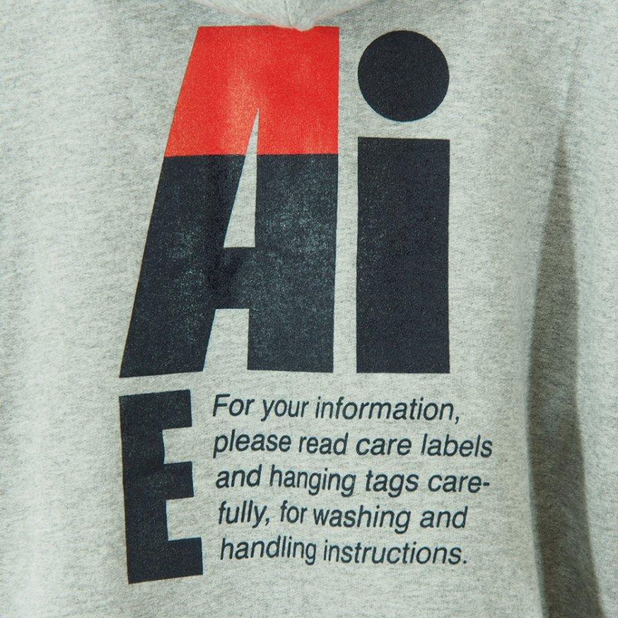 AiE - Printed Hoody - Big AiE Logo - Grey