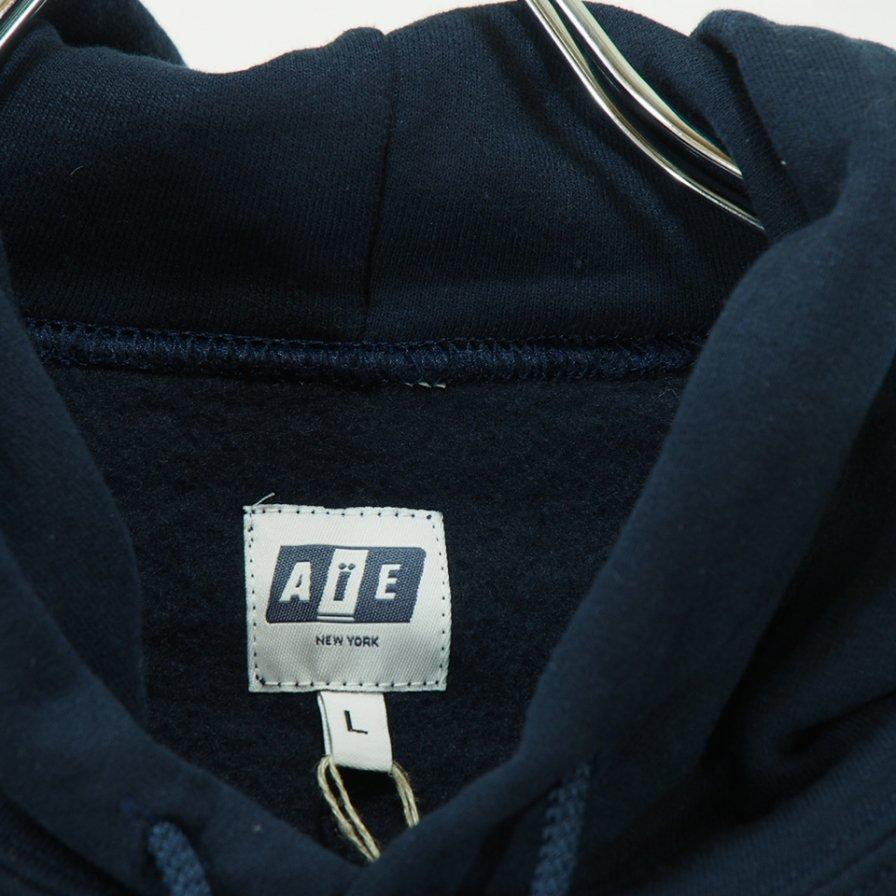 AiE - Printed Hoody - Big AiE Logo - Navy