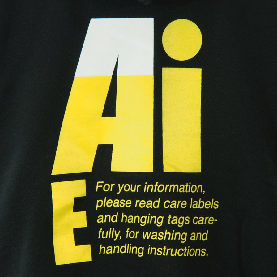 AiE - Printed Hoody - Big AiE Logo - Black