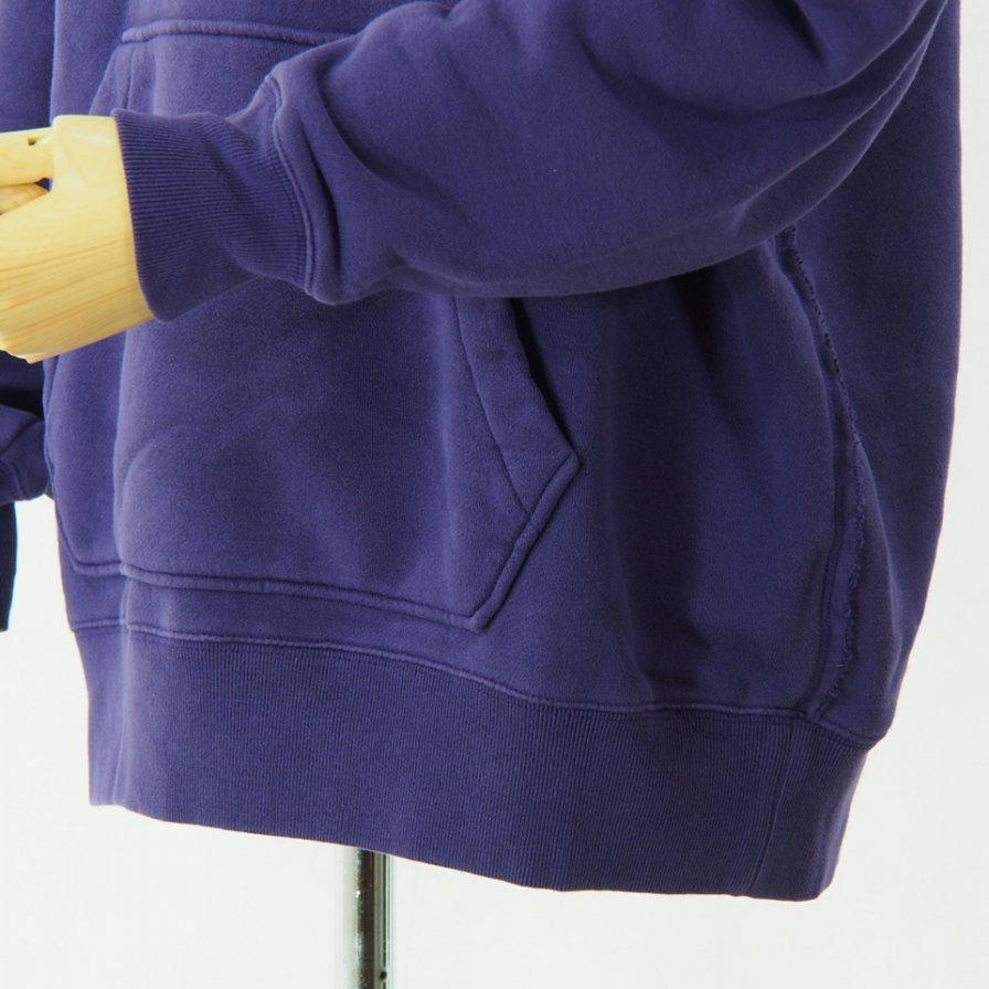 Needles - Sweat Hoody - Cotton Jersey / Discharge Print - Purple