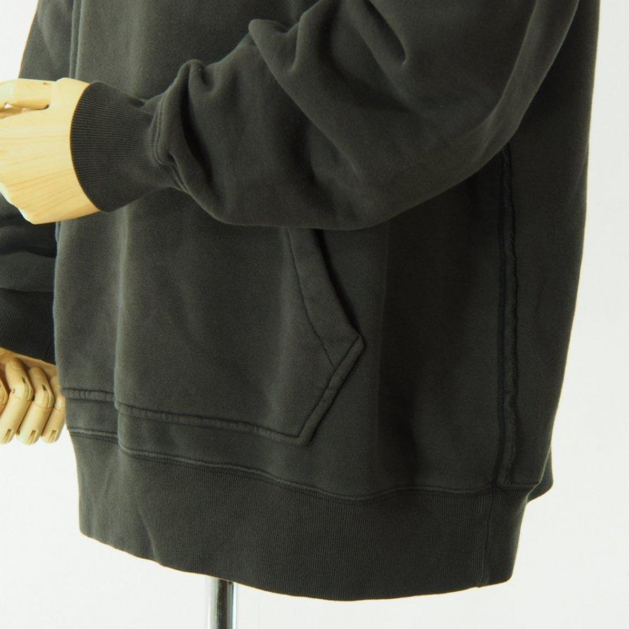 Needles - Sweat Hoody - Cotton Jersey / Discharge Print - Charcoal