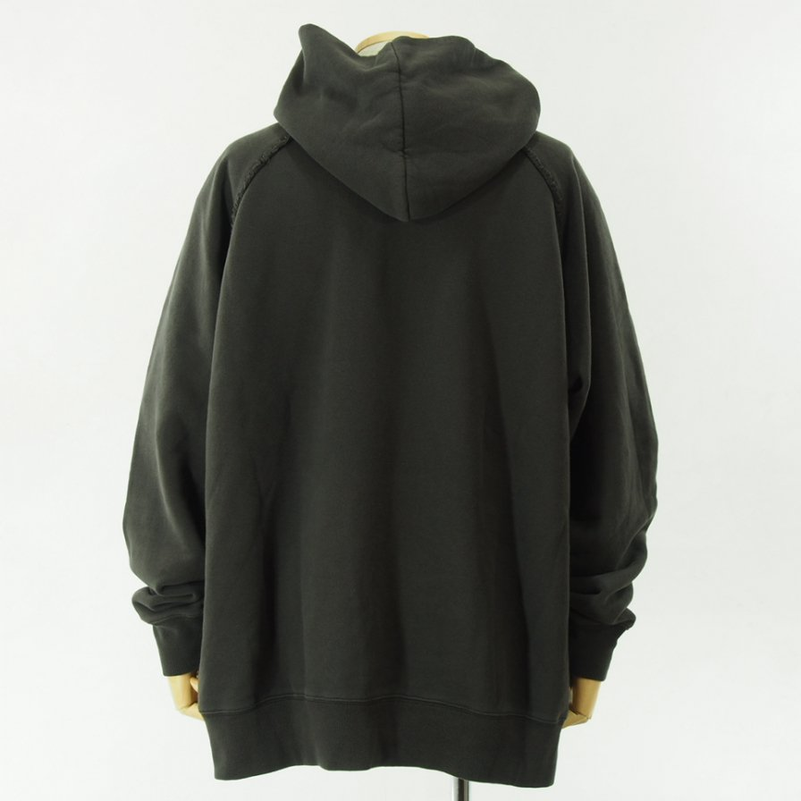Needles - Sweat Hoody - Cotton Jersey / Discharge Print - Charcoal