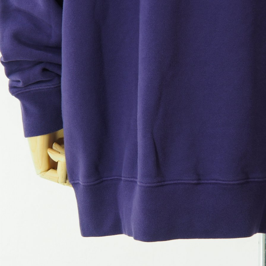 Needles - Crew Neck Sweat - Cotton Jersey / Discharge Print - Purple