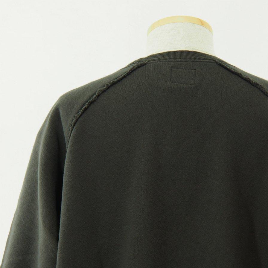 Needles - Crew Neck Sweat - Cotton Jersey / Discharge Print - Charcoal